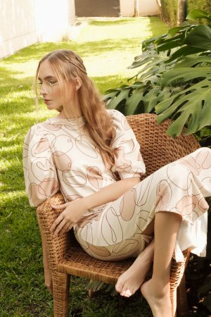 Vestido Cafe almendra Diana Taborda